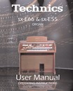 Technics E66 & E55 User Manual